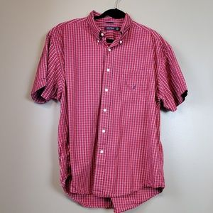 Nautica Short Sleeve Button Down Plaid Shirt S XL